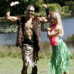 CAVE MAN WITH HULA HELENA